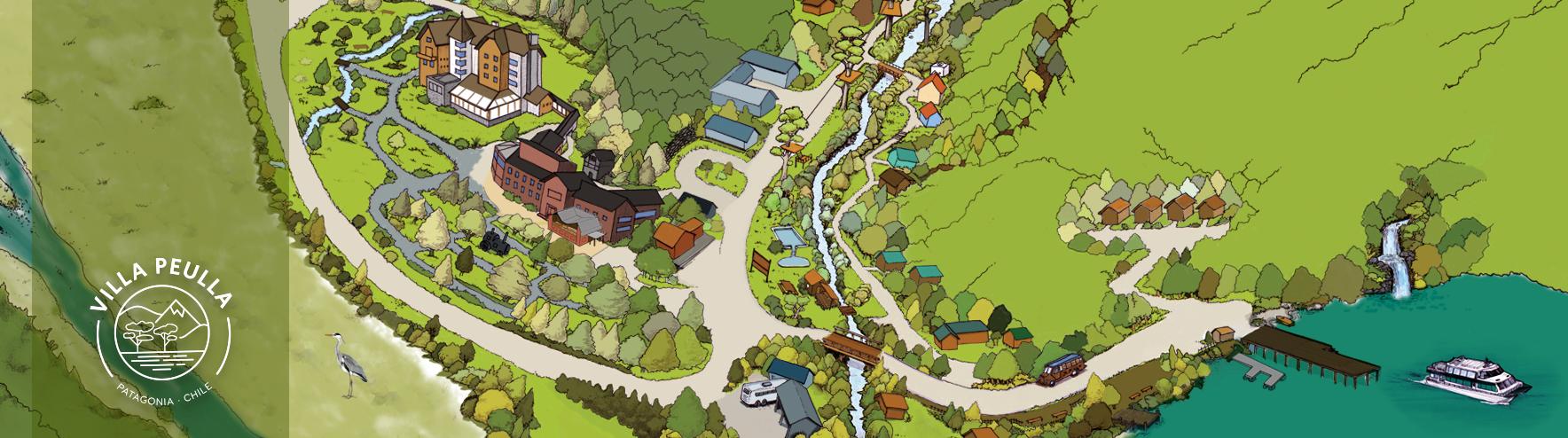 Mapa Villa Peulla